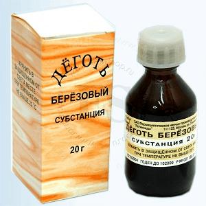 лечение дегтем